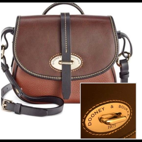 a78201b0d99c Dooney   Bourke Handbags - Dooney   Bourke Amber Brown Leather Crossbody Bag